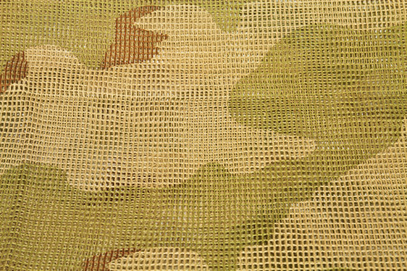 concealment: Cotton camouflage netting designed to wrap around the head or cover arms