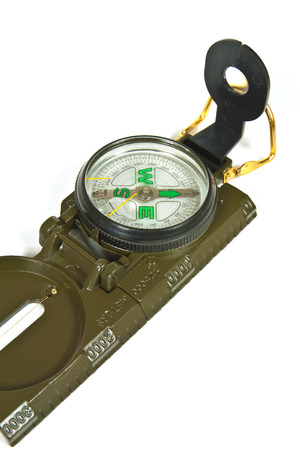 sighting: Classic Army metal compass for tactical exercises