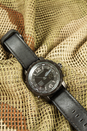 chronograph: Mens Watch Chronograph on camouflage netting
