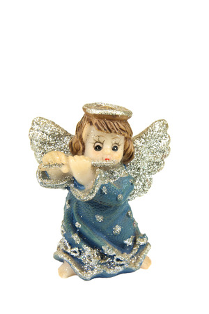male angel: Toy male angel isolated on white background Stock Photo