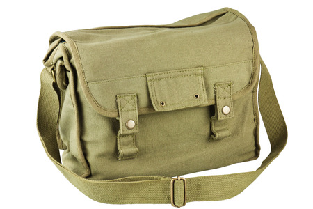 duffel: Soldiers duffel bag isolated on white background