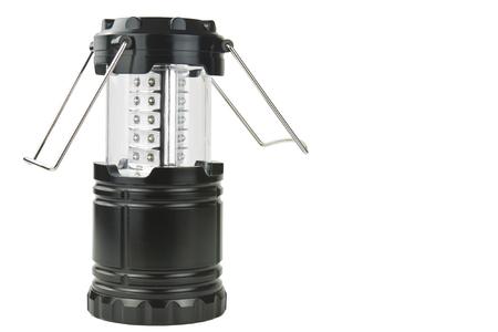 LED camping lamp isolated on white background Stock Photo