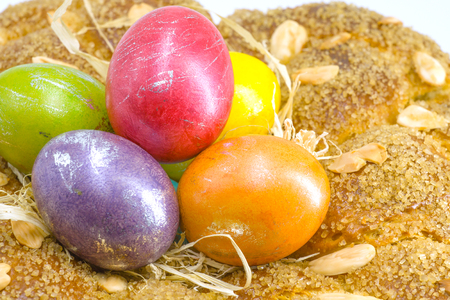 Painted in the spirit of the traditions of Easter eggs 版權商用圖片