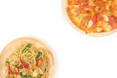 crust: Pizza Thin Crust Ham and Crab Stick , Spicy Sausage Spaghetti