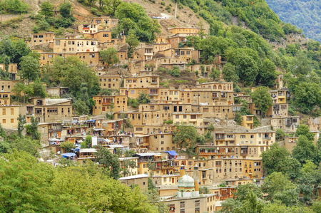 Masuleh Vilage, Gilan, Iran Фото со стока