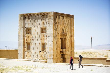 necropolis: Naqsh-e Rustam, Ancient Necropolis, Far ,Iran Stock Photo