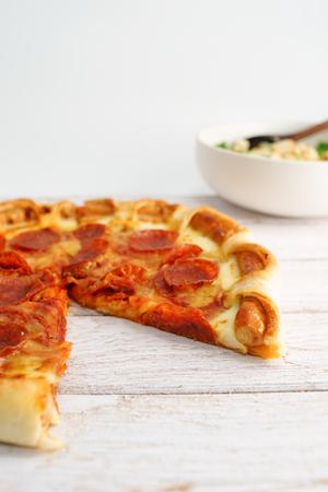 pepperoni: Pepperoni Pizza , Focus Selection Stock Photo