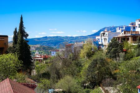 Der Bergblick in der Nähe von Chefchaouen, Blaue Stadt im Nordwesten Marokkos Standard-Bild - 85520488