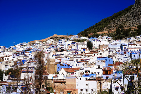 The beauty of Chefchaouen, Blue City of northwest Morocco Standard-Bild - 99367860