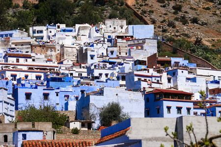 The beauty of Chefchaouen, Blue City of northwest Morocco Standard-Bild - 99367862