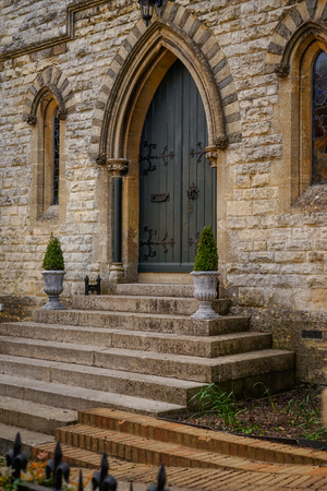 The Old Chapel of All Saints Church, Bisley Stock Photo