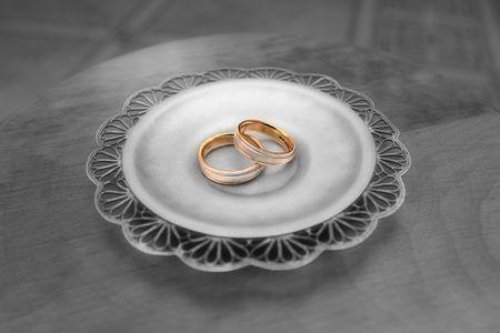 Foto en blanco y negro. Color oro rinds  Foto de archivo - 3579933