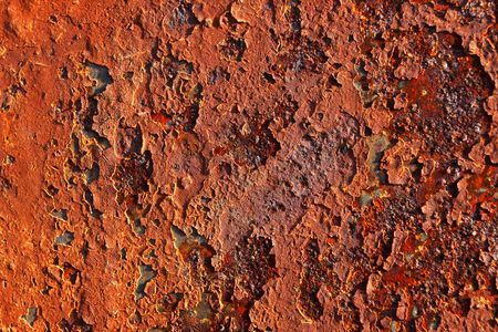 Grunge pattern. Rusty background. Red, orange colors. Stock Photo - 3769936