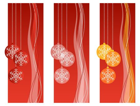Three red christmas vertical banners. photo