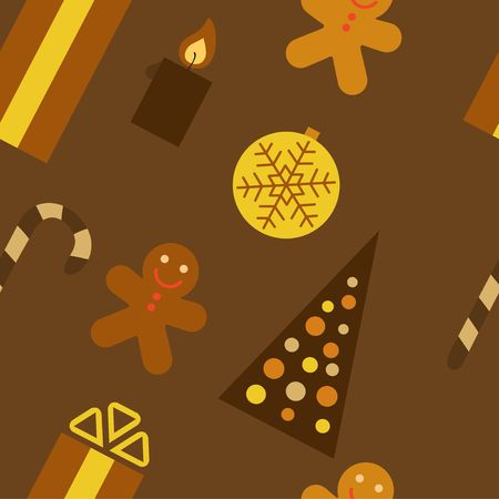 Christmas seamless background. Brown colors. photo