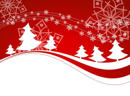 Winter background with christmas trees. photo