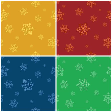 Seamless christmas background with snowflakes photo