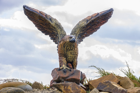 famous industries: Eagle monument in summer park