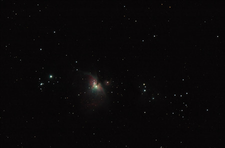 The Orion Nebula and stars