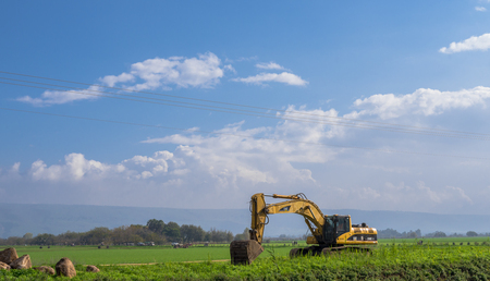 constraction: Excavator in the field