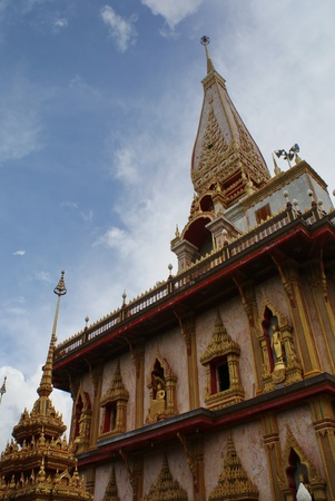 chalong: chalong temple in phuket Stock Photo
