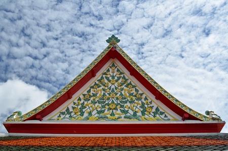 gable: gable of thai temple Stock Photo