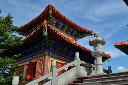 lengnoeiyi: pavilion at lengnoeiyi chinese temple Stock Photo
