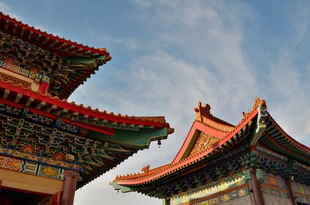 lengnoeiyi: roof of chinese temple