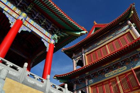 lengnoeiyi: building at lengnoeiyi chinese temple Stock Photo