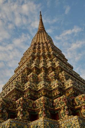 pagoda at temple of reclining buddha photo