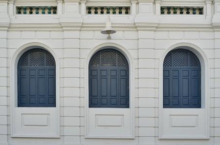 windows of european building photo
