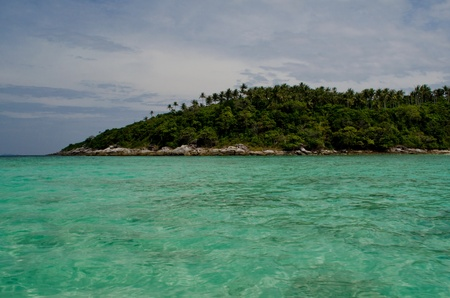 raya island and turquoise sea in Phuket photo