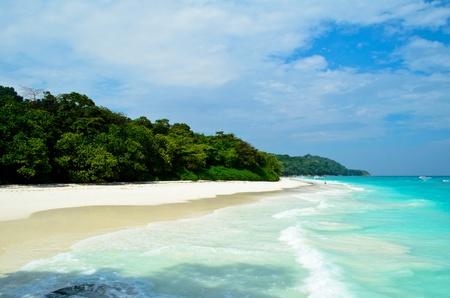 sandy beach at tachai island in Thailand