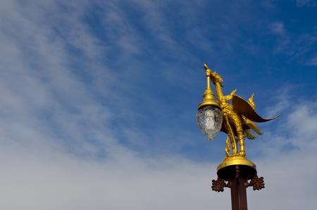 golden garuda  street light photo