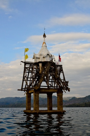 sunk: sunk temple in Kanchanaburee Thailand