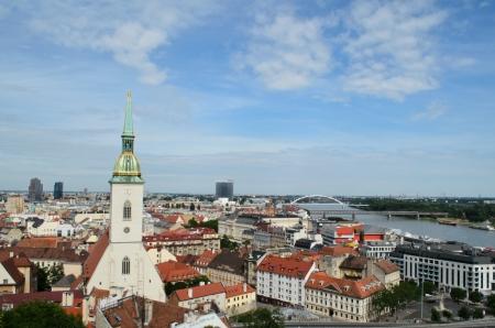 bratislava: St  Martin s Cathedral and Bratislava skyline