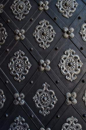 beautiful gate of a church Standard-Bild