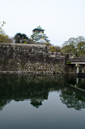 osaka castle: osaka castle in Japan Editorial