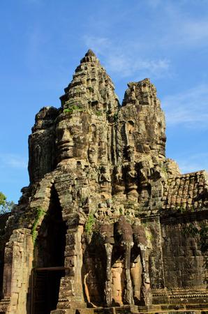 thom: south gate of Angkor Thom Stock Photo