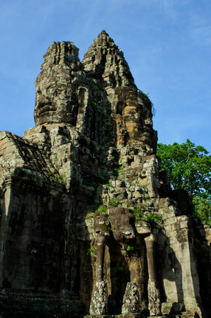 south gate of Angkor Thom photo