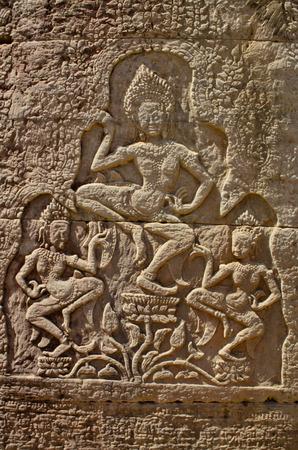 apsara: sculpture of apsara at Bayon
