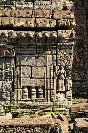 apsara: sculpture of Apsara at Banteay Kdai, Angkor Thom