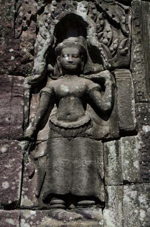 apsara: Apsara sculpture at Banteay Kdai