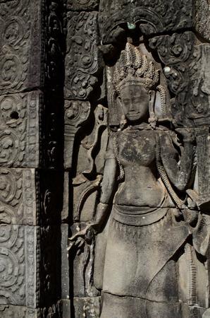 apsara: Apsara sculpture at Bayon