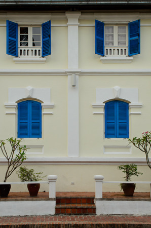 colonial building: colonial building in Luang Prabang Lao
