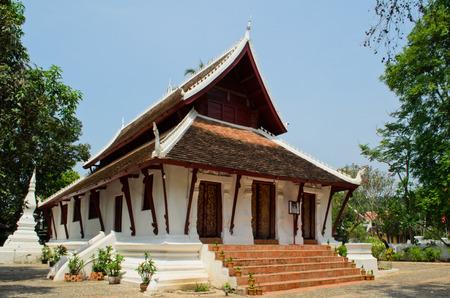 mediation: mediation hall of Wat Pakkhan buddhist temple in Luang Prabang Lao