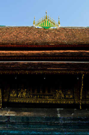 lao: Xieng Thong temple in Luang Prabang Lao