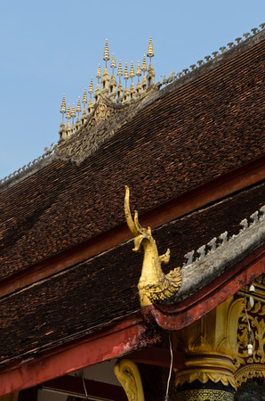 buddhist temple roof: roof of mediation hall of buddhist temple in Luang Prabang Lao
