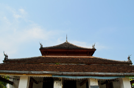 buddhist temple roof: roof of Wat Visounarath buddhist temple in Luang Prabang Lao