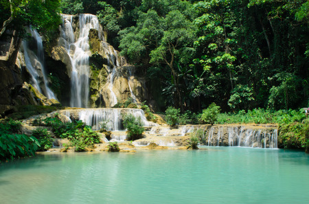 lao: Tad Kwangsi waterfall in Luang Prabang Lao